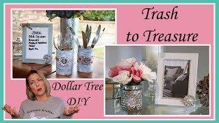 Upcycle Trash to Dollar Tree DIY Gifts - Shabby Chic, Farmhouse n Glam