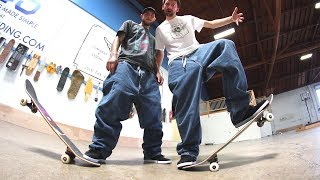 Today we play a game of SKATE in some of the baggiest jeans we can ...