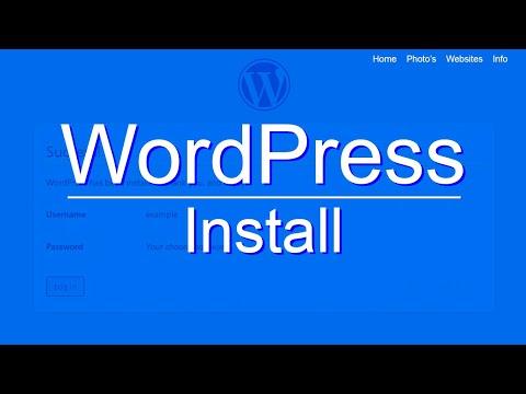 WordPress Install - A Free Step by Step Tutorial on Installing WordPress