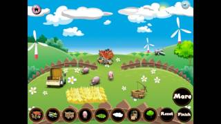 NEW мультик онлайн для девочек—Украшение фермы—Игры для детей