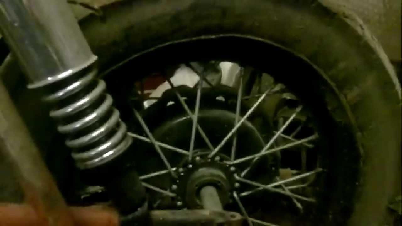 Ч 4.Мотоцикл из запчастей. редуктор (мост) колеса бокового прицепа .