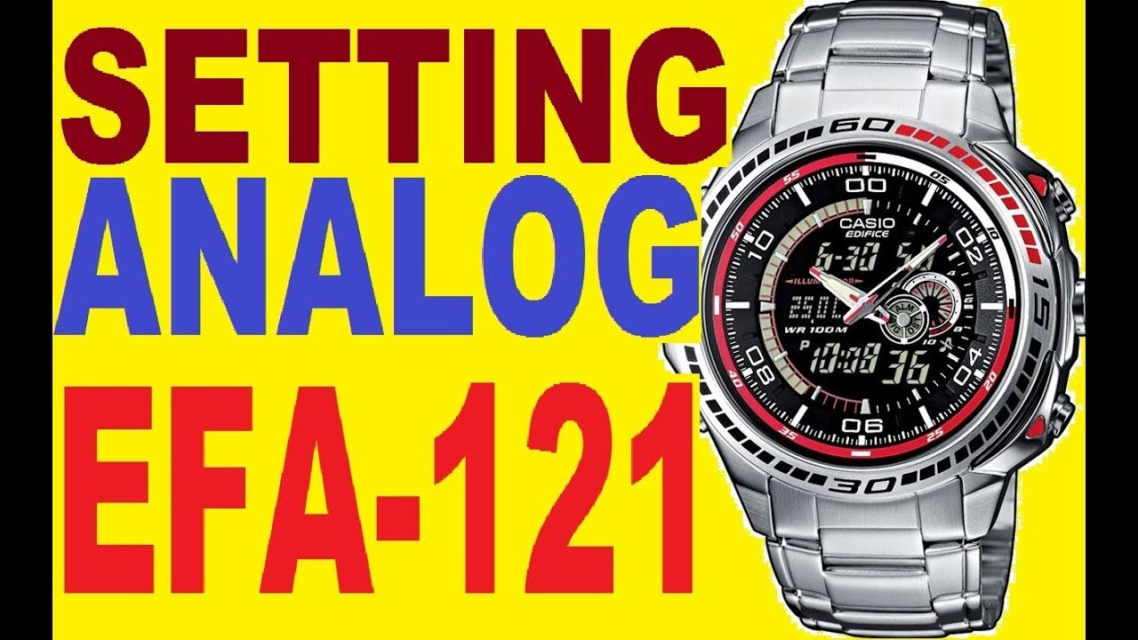 Casio Edifice Efa 121d Manual 4334 To Set Analog Time border=
