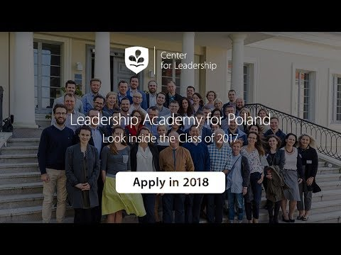 Look inside the Class of 2017 - Leadership Academy for Poland