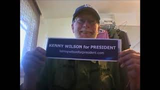Kenny Wilson for President Bumper Stickers