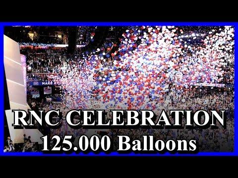 Republican National Convention 2016 Balloon Drop 125,000 MAGA Balloons RNC Celebration