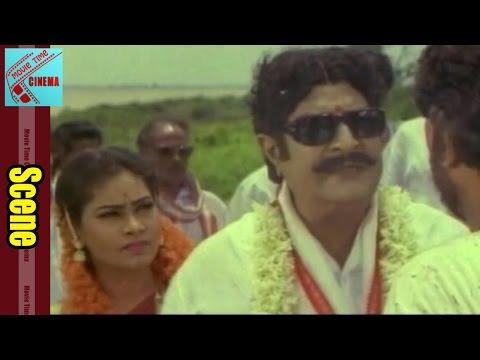Comedy Scene Between Mohan Babu & Satyanarayana || M Dharmaraju MA Movie || Ramba