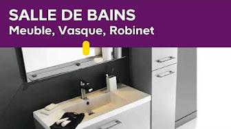 Salle de bains - Meuble, Vasque, Robinet - YouTube
