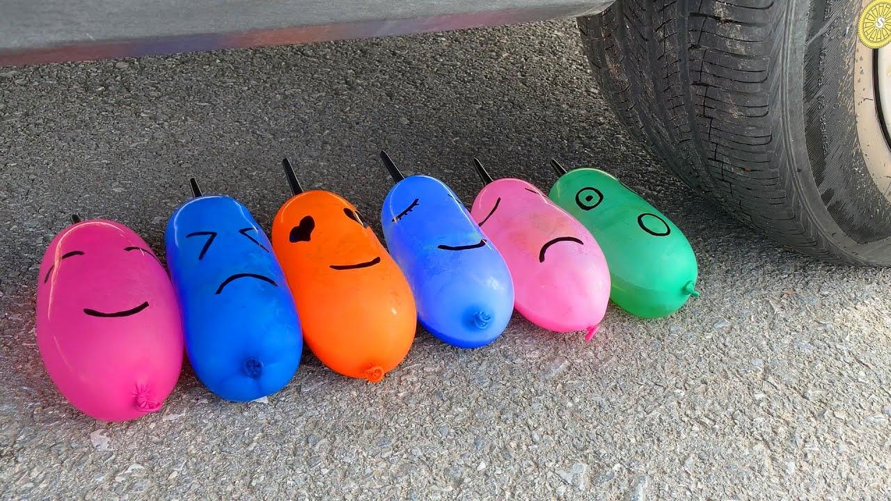 Experiment Car vs Cola, Pepsi, Fanta, Mirinda Balloons | Crushing Crunchy & Soft Things by Car #72