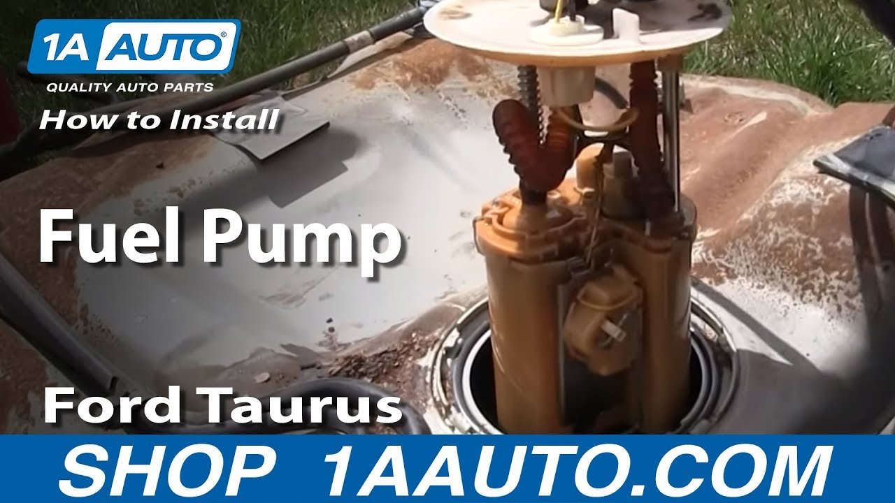 How To Install Replace Fuel Pump 199606 Ford Taurus