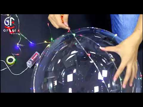 Floating Light Up LED Bubble Balloons With Multi Color Firefly String Lights Wedding Party Favor