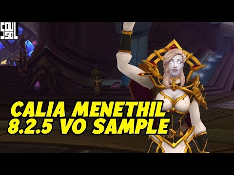 FIRST LISTEN! Calia Menethil Voice Changes From Legion To Battle For Azeroth