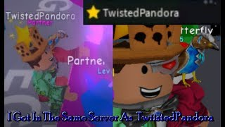 TwiistedPandora Is In My SERVER!! | TwiistedPandora off Camera In BGS | Roblox BubbleGum Simulator