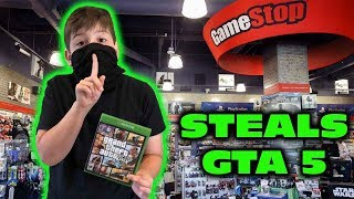 Kid Temper Tantrum Returns To Gamestop To STEAL GTA 5 [ Original ]