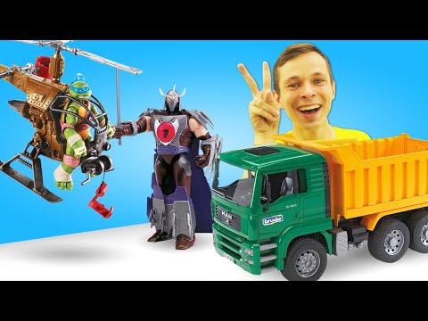 Игры для мальчиков - Черепашки Ниндзя против Шредера! Выбираем машинки! – Видео шоу Автомастерская.