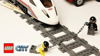 Лего-поезд-играем-в-железную-дорогу-с-минифигурками-Лего-Скоростной-Поезд-60051-Новые-Серии