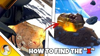 "HOW to find the ""X"" using a TREASURE MAP in FORTNITE SEASON 8"