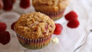White Chocolate And Raspberry Muffins Recipe - Heghineh.com