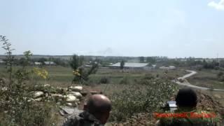 Ополченцы ДНР обрабатывают позиции врага из АГС-17