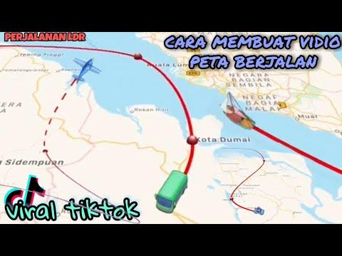 cara membuat peta berjalan maps animasi traveling viral tiktok