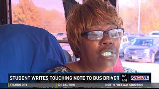 An 8th grader wrote a touching note to an HISD bus driver, thanking...