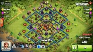 BM057 Balloons and Minions Strategy against champion level opponent - Clash of Clans CoC