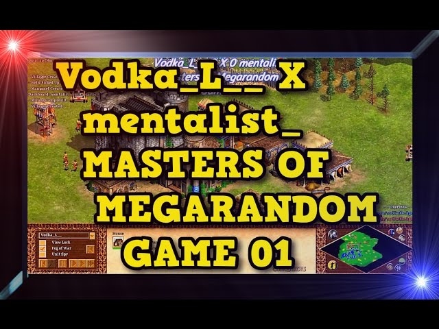 Age of Empires 2 HD Vodka L X mentalist Game 01MoMR Round1 AoE2HD Gameplay PT BR