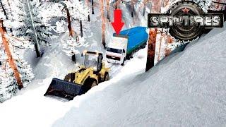 [РП]Вытаскиваю дальнобойщиков из снежного плена-Зимний Spintires