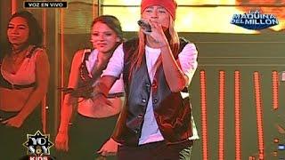 Eminem mostró gran habilidad en el rap interpretando