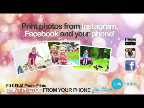 BIG W PHOTOS - Print From Your Phone - YouTube