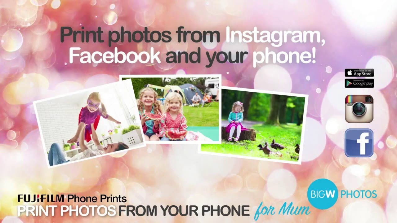 big w photos print from your phone youtube