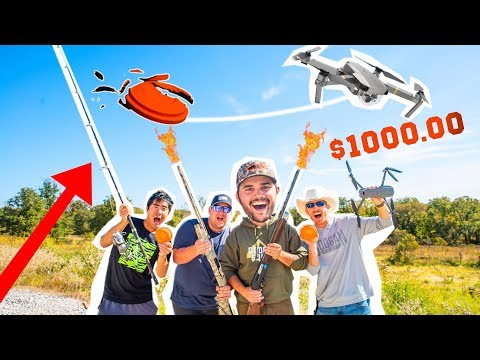 $1,000 TRICK SHOT Clay Target Challenge!!!