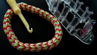 Мини станок и крутой браслет из резинок. Квадфиш простой стиль Rainbowloom bracelet