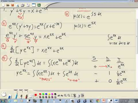 Differential Equations - Linear Equations with Variable Coefficients