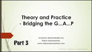 Lec-dem: Carnatic Music Theory and Practice - Bridging the gap Part 3