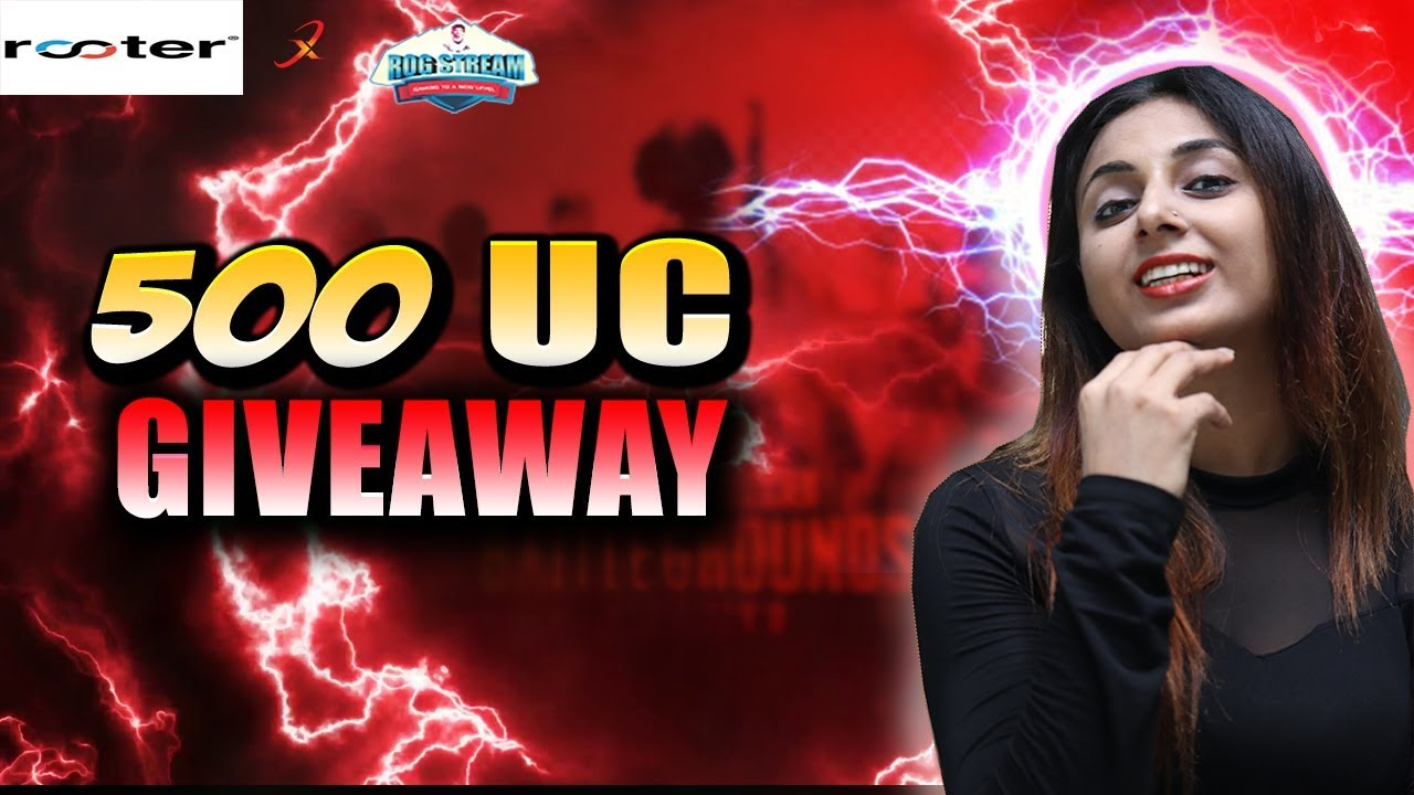 PUBG MOBILE || 500 UC GIVEAWAY YOU GOT IT ||  SPONSOR BY ROOTER