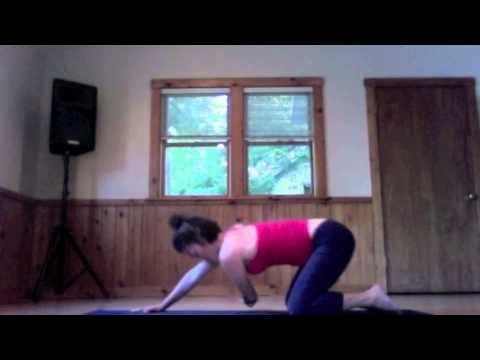 restorative yoga sequence for head neck  shoulders with