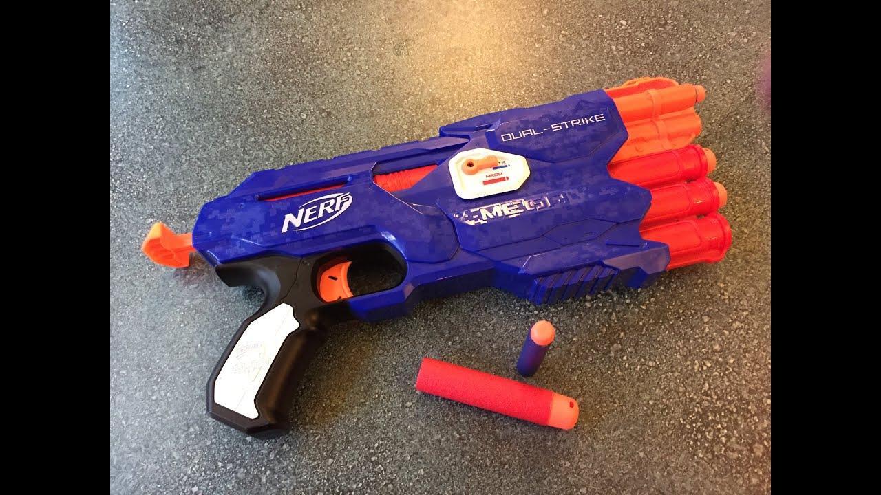 Nerf N Strike Elite Dual strike Hybrid MEGA Elite dart blaster Review Internals