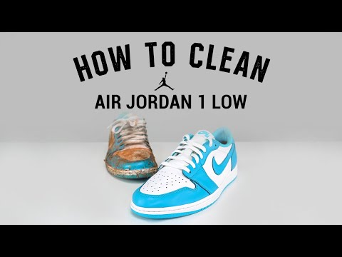 How To Clean Air Jordan 1 Low UNC with Reshoevn8r