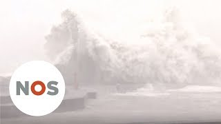 JAPAN: orkaan Jebi laat een spoor van vernielingen achter