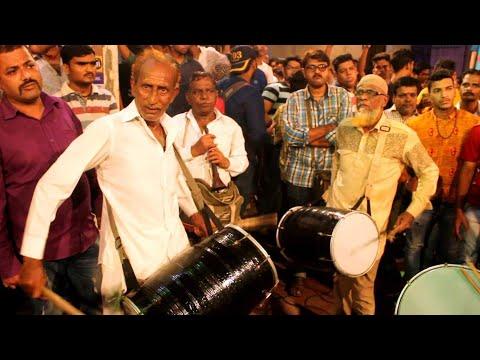 Ibrahim Bhai Kacchi Dholi Baja at Grant Road cha Raja 2017 Padya Pujan Sohala