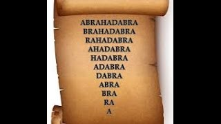 #15 Abracadabra Abrahadabra Magic Spells