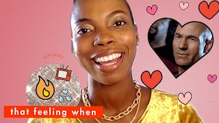'Spree' Star Sasheer Zamata Spills Her Super Awkward Crushes | That Feeling When | Cosmopolitan