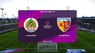 PES 2020   Alanyaspor vs Kayserispor - Super Lig   18/01/2020   1080p 60FPS