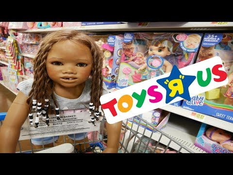 Silicone Baby Big Sister Lost  In Toys R Us Huge Toy Store + Malia!