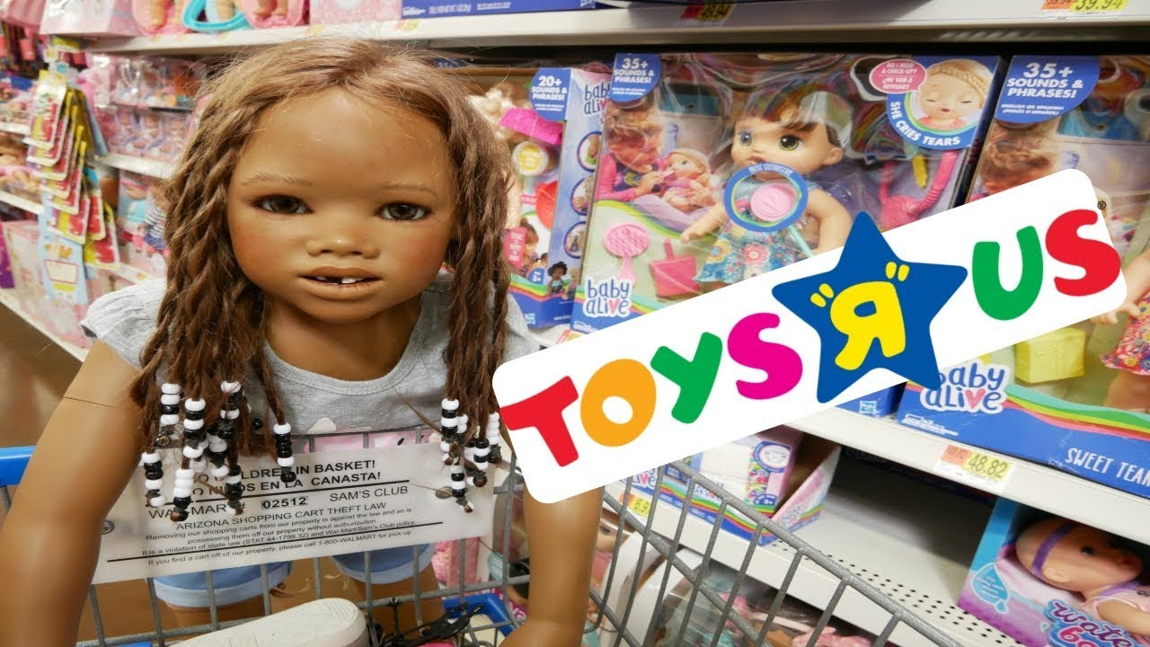 Silicone Baby Big Sister Lost In Toys R Us Huge Toy Store