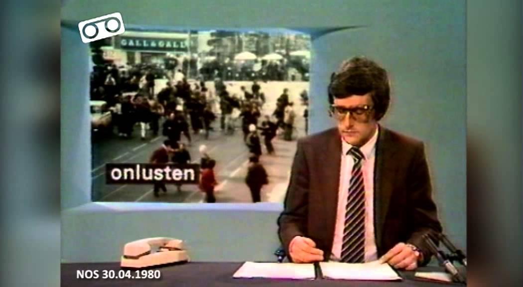 NOS Journaal - De Krakersrellen in Amsterdam (30.04.1980 ...
