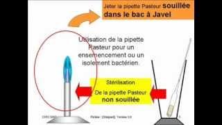 Sterilisation pipette Pasteur boulée.wmv