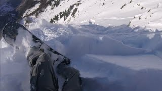 Swiss Alps - 30 seconds in a terrifying avalanche - lucky escape
