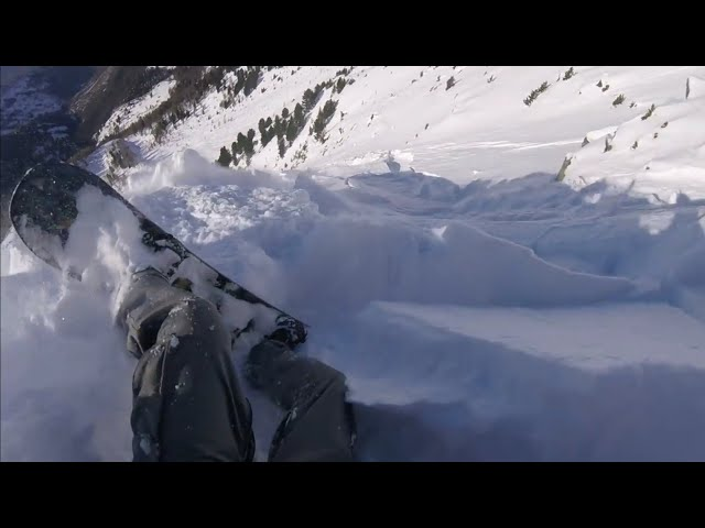 Avalanche Swiss Alps - lucky ending
