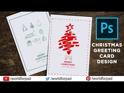 How To Make Christmas Greeting Cards In Photoshop CC, CS6 | Photoshop Tutorial
